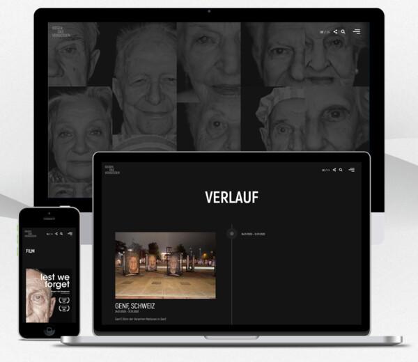 """Website für das Fotoprojekt """"Gegen das Vergessen"""""""